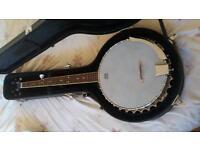 Left handed banjo