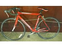 Red Cannondale road bike