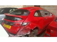 Honda civic type r fn2 red breaking stairs repairs