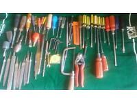 Various tools-files screwdrivers bits and bobs
