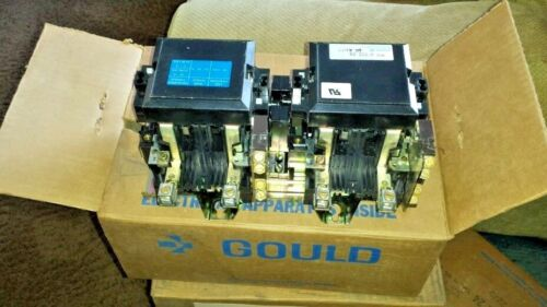 MC-0-262-24 GOULD 60 AMP 240V 1 PHASE DUAL CONTACTOR TRANSFER SWITCH NOS