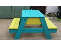 Kids picnic table with sand box