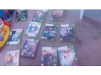 Xbox 360 with games and all cable 1 controller