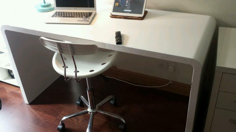 Dwell Hudson Gloss White Desk
