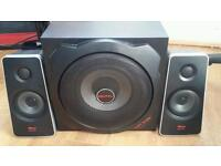 Sub woofer and speakers