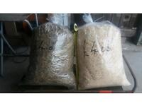 Hay and wooden shavings . Only £4 .oo per bag. Possible local delivery. Or you can collect
