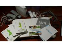 Like new used twice Wii with Fit Board