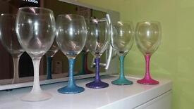 Wine glasses, handmade