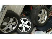 "16"" 4 x 100 alloys rover mg new tyres"