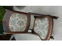Foldup vintage rocking chair