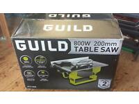 Guild 800w/200m Table Saw used once