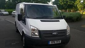 FORD TRANSIT SWB 2011 WHITE only 117k 6 SPEED DRIVES LIKE NEW