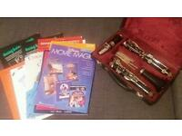 Clarinet and 9 books
