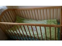 New born baby cot bed with free memory mattress