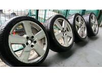 """Genuine OEM Audi;Ronal Sline RS6 18"""" alloy wheels + tyres 5x112 Seat Skoda vag"""