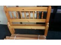 3ft Single Pine Bed Frame