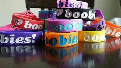 I Love Heart boobies! Huge lot with neon set 20 bracelets Wow Look - Neon Bracelets