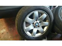 Set of 5 stud bmw wheels with good tyres