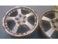 Mercedes split rim style 18x8.5J alloy wheels 5x112 Audi VW Skoda vag