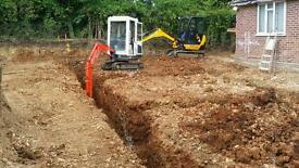 Digger and driver hire all types of mini diggers and operators