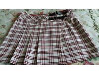 Short kilt skirt