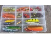 Box of spinners and lures