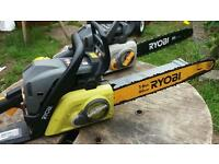 2 ryobi chainsaws one running and one for spares