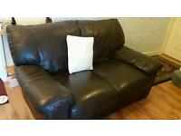 Two seater and 3 seater dark brown leather. Good condition. Posible delivery if local. £175 ono