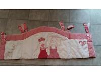 Pink Country Kisses Cot Bumper/Blanket/Fleece/Tag Blanket set