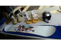 Womens Snowboard Set