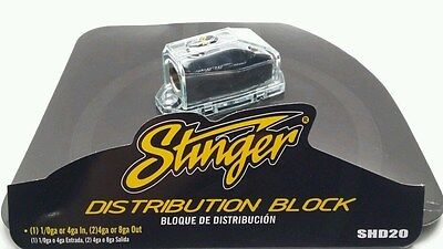 Stinger ShocKrome 0 4 8 Gauge AWG Amp Power Or Ground Distribution Block shd20