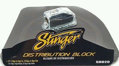 Stinger Shoc-Krome 0 4 8 Gauge AWG Amp Power Or Ground Distribution Block SHD20