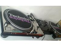 Technics 1200 x 2 , Pioneer mixer, Ortofon concordes, chrome covers. With or without mixer.