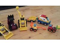 Bob the Builder diggers and cars