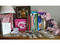 Pile of car boot items Brand new wedding hair pieces Quality toys next homeware and clothes