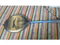 Slazenger vintage retro squash racket & original cover