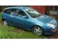 Ford focus 1.6 3dr 2001 for sale. Parts or repair, may consider breaking.