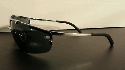 3M Metaliks Safety Glasses with Gray Anti Fog Lens Sunglasses Z87 15171