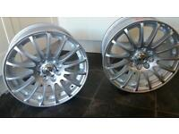 "Wolfrace Alloy Wheels 15"" New in box x 2 Silver"