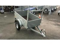 New galvanised 5x3 trailers with front ladder rack and lights