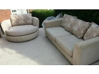 Harvey's sofa 3seater and swivel chair
