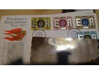 Huge box of old postcards, letters, stamps, postmarks. Big collection