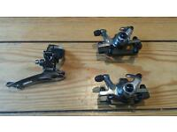 Disc brake calipers and front mech
