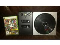 DJ Hero for xbox 360 and decks