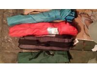 4 mens Camping tent, 1 bed and 2 chairs.