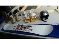 Female Snowboard Set