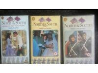 North and south books 1-3 on vhs