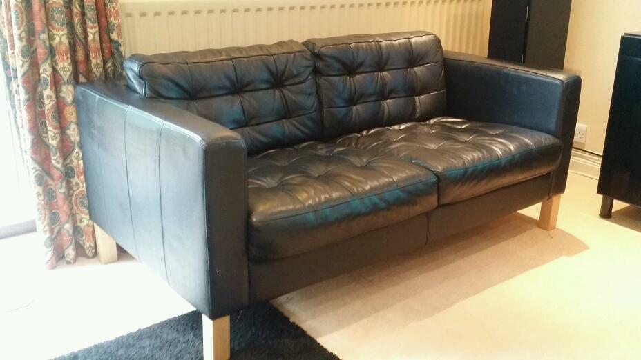 Perfect Ikea Karlstad/Karlsfors Leather Two Seater Sofa