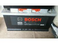 Bocsh silver large heavy duty car van 4x4 battery