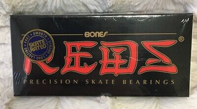 Bones Reds Precision Skateboard Bearings 8-Pack Standard Sealed NEW Free S/H!
